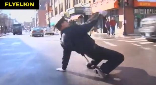 DJポリスに対抗してダンスをしながら交通誘導する警官 ダンサーポリスを発見!