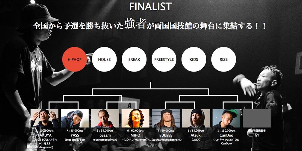 Xperia™ Presents  DANCE@LIVE JAPAN FINAL 2014 特設サイト公開