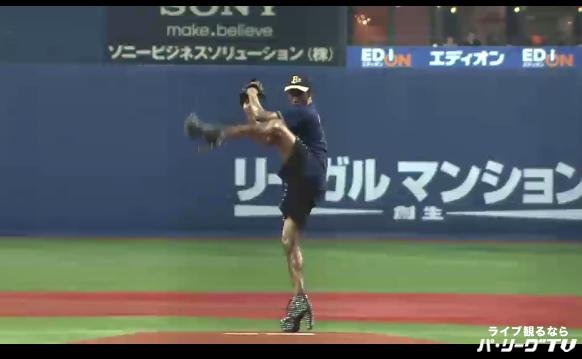ジョンテが始球式に登場!身体能力抜群の彼の投球は如何に!?
