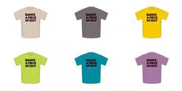 ダンサー 「DANCE@PIECE GRAND PRIX 2017」オリジナルTシャツ販売開始!