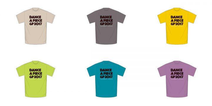 「DANCE@PIECE GRAND PRIX 2017」オリジナルTシャツ販売開始!